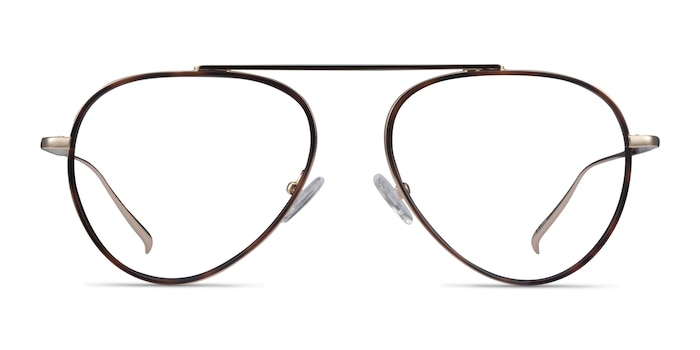 Cana Tortoise  Gold Metal Eyeglass Frames from EyeBuyDirect