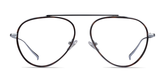 Cana Tortoise  Silver Metal Eyeglass Frames from EyeBuyDirect