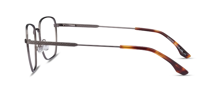 Throne Gunmetal Metal Eyeglass Frames from EyeBuyDirect
