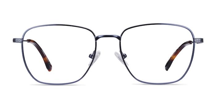Throne Blue Metal Eyeglass Frames from EyeBuyDirect