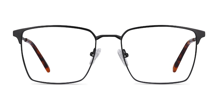 Metro Black Metal Eyeglass Frames from EyeBuyDirect