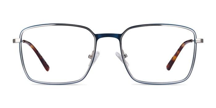 Align Blue & Silver Metal Eyeglass Frames from EyeBuyDirect