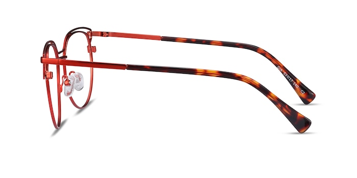 Gia Red Metal Eyeglass Frames from EyeBuyDirect