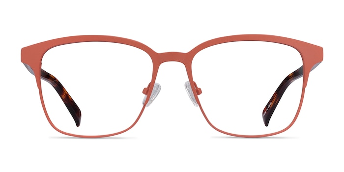 Intense Coral & Tortoise Acetate-metal Eyeglass Frames from EyeBuyDirect