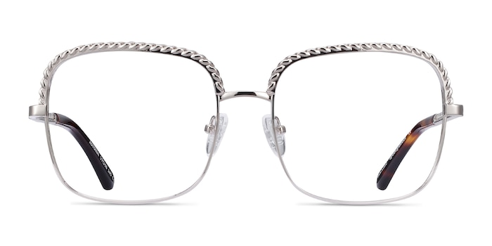 Astoria Silver Metal Eyeglass Frames from EyeBuyDirect