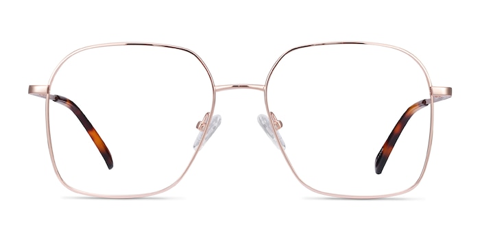 Roman Rose Gold Metal Eyeglass Frames from EyeBuyDirect