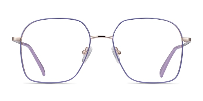 Arty Purple & Gold Metal Eyeglass Frames from EyeBuyDirect