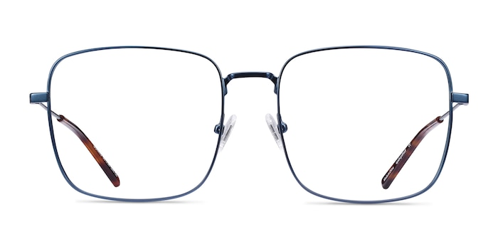Dorato Navy Metal Eyeglass Frames from EyeBuyDirect