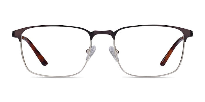 Oswald Matte Black Metal Eyeglass Frames from EyeBuyDirect