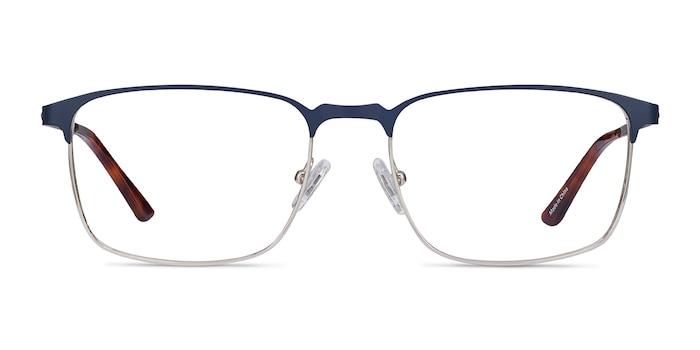 Oswald Navy Metal Eyeglass Frames from EyeBuyDirect