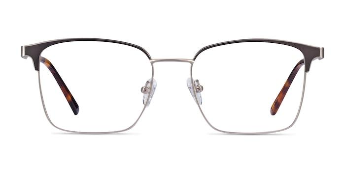 Demy Silver & Black Metal Eyeglass Frames from EyeBuyDirect