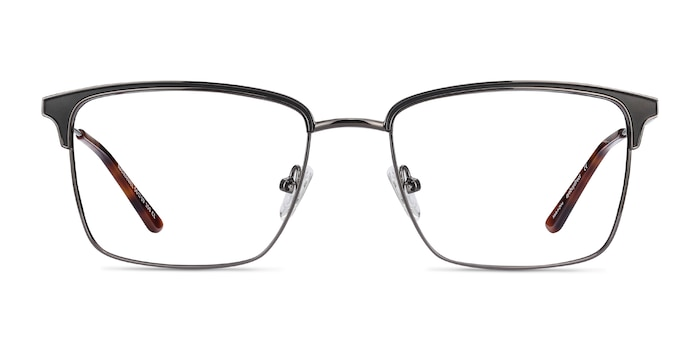 Nathaniel Black Metal Eyeglass Frames from EyeBuyDirect
