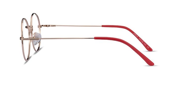Arbus Red & Gold Metal Eyeglass Frames from EyeBuyDirect
