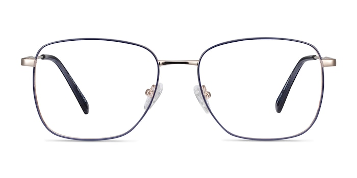 Kusama Navy & Gold Metal Eyeglass Frames from EyeBuyDirect