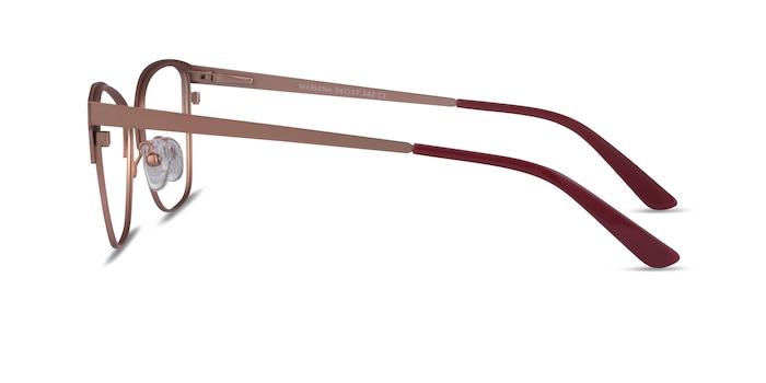Marlena Burgundy  Rose Gold Metal Eyeglass Frames from EyeBuyDirect