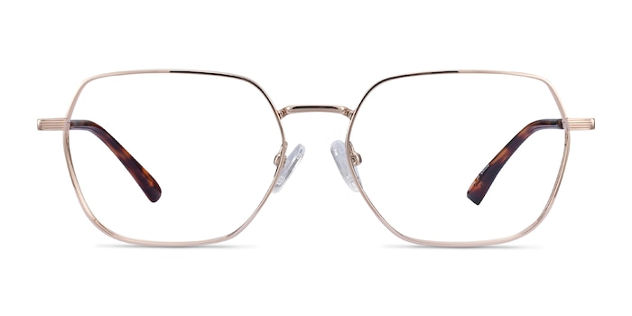 Marlow Gold Metal Eyeglass Frames from EyeBuyDirect
