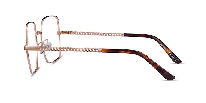 Bettina Rose Gold Metal Eyeglass Frames from EyeBuyDirect