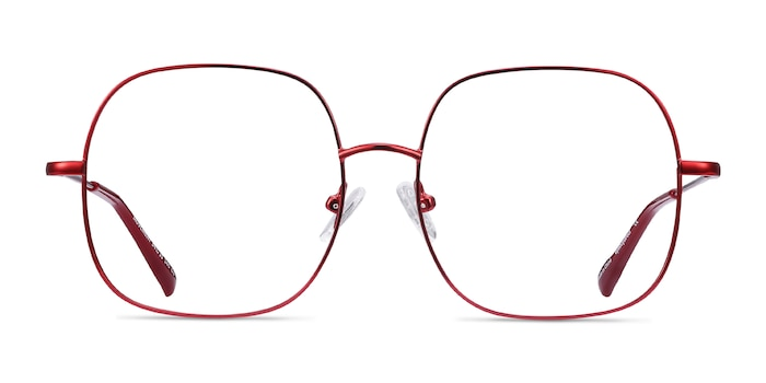 Movement Red Metal Eyeglass Frames from EyeBuyDirect
