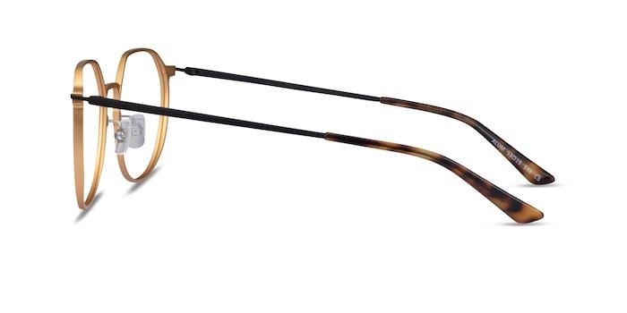 Alum Gold & Black Aluminium-alloy Montures de Lunette de vue d'EyeBuyDirect