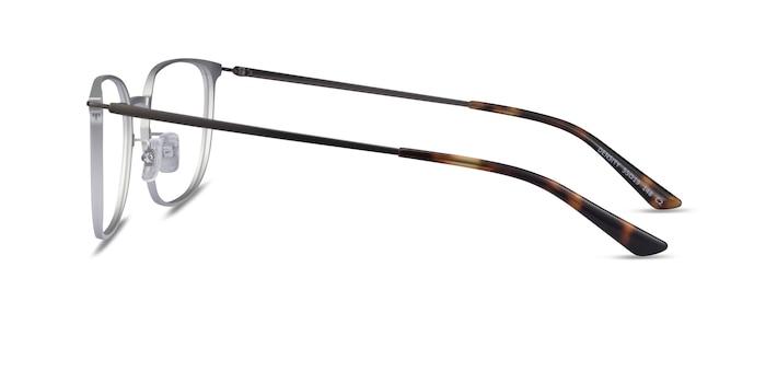 Density Light Silver & Gunmetal Aluminium-alloy Eyeglass Frames from EyeBuyDirect