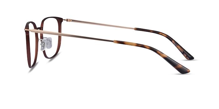 Density Brown & Gold Aluminium-alloy Montures de Lunette de vue d'EyeBuyDirect