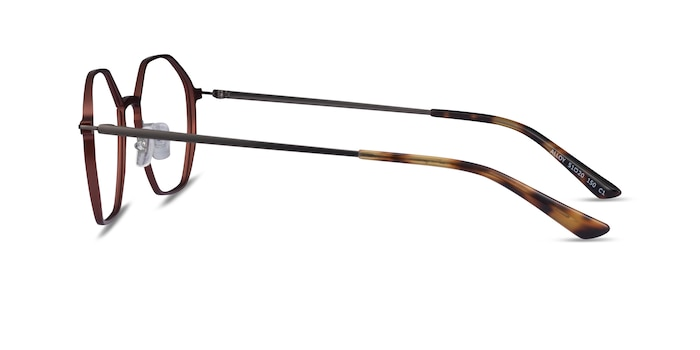 Alloy Brown & Gunmetal Aluminium-alloy Montures de Lunette de vue d'EyeBuyDirect
