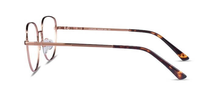 Clotilde Shiny Rose Gold Metal Eyeglass Frames from EyeBuyDirect