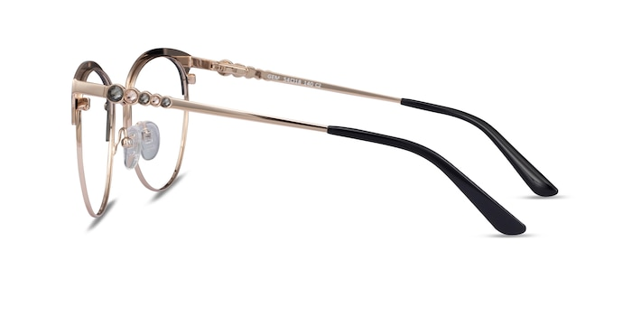 Gem Black Gold Metal Eyeglass Frames from EyeBuyDirect