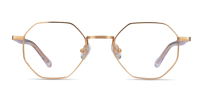 Music Gold Clear Metal Eyeglass Frames from EyeBuyDirect