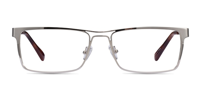 Biloxi Silver Metal Eyeglass Frames from EyeBuyDirect