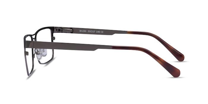 Biloxi Dark Gunmetal Métal Montures de lunettes de vue d'EyeBuyDirect