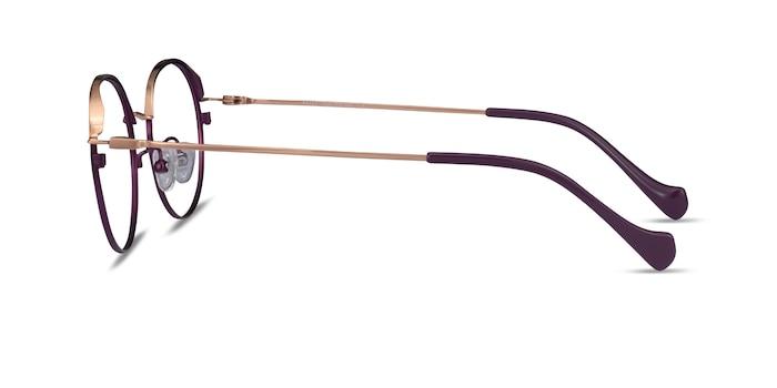Patel Purple  Rose Gold Metal Eyeglass Frames from EyeBuyDirect