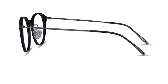 Jones Black  Gunmetal Acetate-metal Eyeglass Frames from EyeBuyDirect