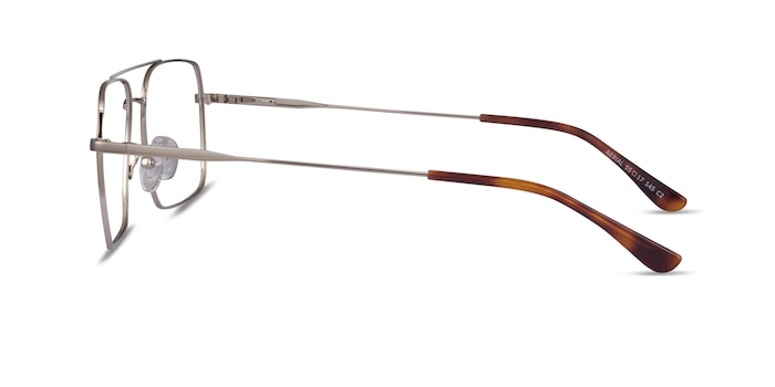 Aerial Silver Metal Eyeglass Frames from EyeBuyDirect