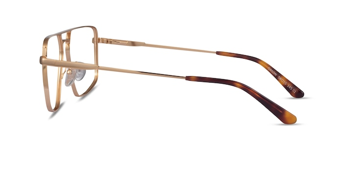 Orson Gold Metal Eyeglass Frames from EyeBuyDirect