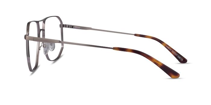 Carlo Brushed Silver Metal Eyeglass Frames from EyeBuyDirect