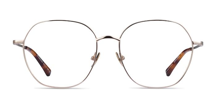 Etymology Light Gold Metal Eyeglass Frames from EyeBuyDirect