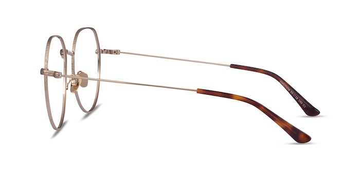Emotion Light Gold Metal Eyeglass Frames from EyeBuyDirect