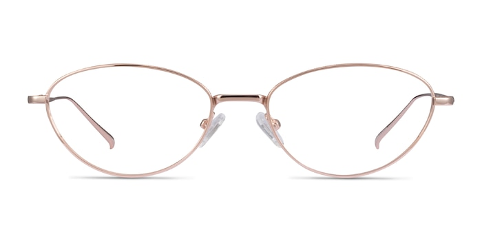 Feather Rose Gold Metal Eyeglass Frames from EyeBuyDirect