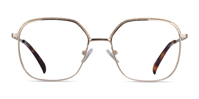 Chai Light Gold Metal Eyeglass Frames from EyeBuyDirect