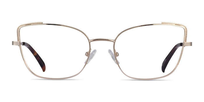 Exquisite Gold Metal Eyeglass Frames from EyeBuyDirect