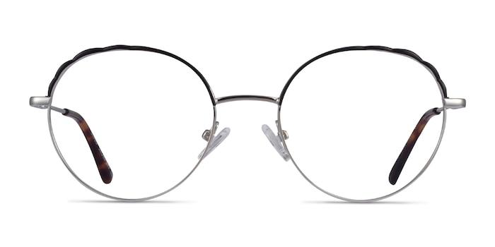 Cloud Silver Black Métal Montures de lunettes de vue d'EyeBuyDirect