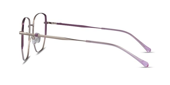 Nimble Silver & Purple Métal Montures de Lunette de vue d'EyeBuyDirect