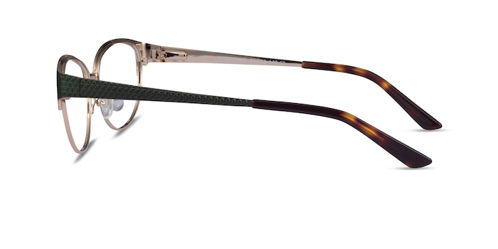 Experience Green Gold Metal Eyeglass Frames from EyeBuyDirect
