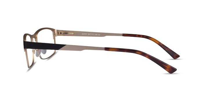 Quest Black Gold Metal Eyeglass Frames from EyeBuyDirect