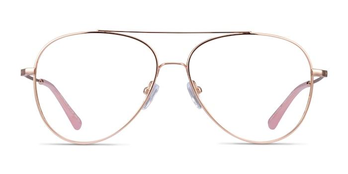 Aesthetic Rose Gold Metal Eyeglass Frames from EyeBuyDirect