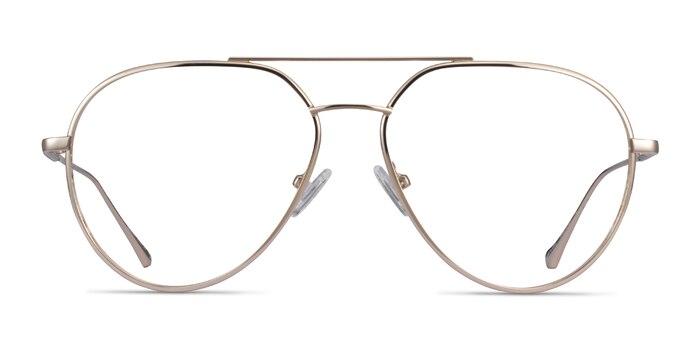 Telescope Light Gold Metal Eyeglass Frames from EyeBuyDirect