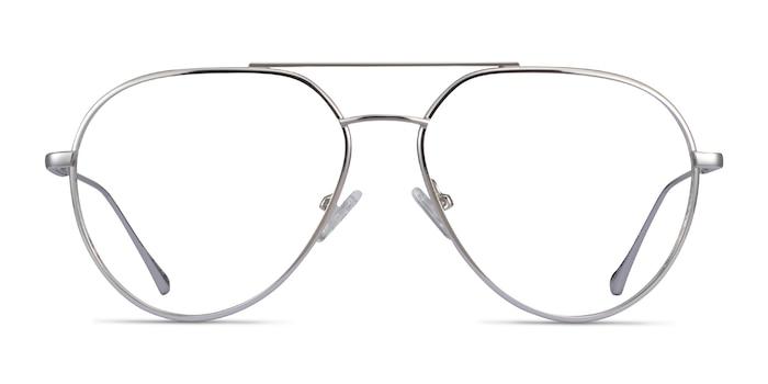 Telescope Silver Metal Eyeglass Frames from EyeBuyDirect
