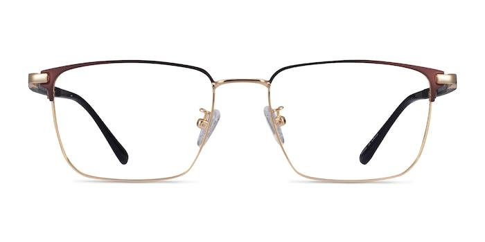 Abroad Brown Gold Metal Eyeglass Frames from EyeBuyDirect