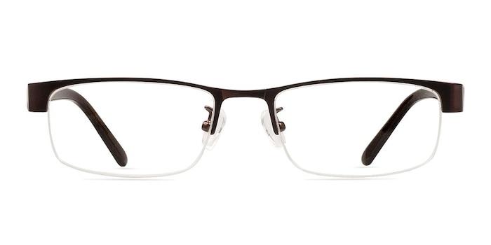 Beckett Coffee Metal Eyeglass Frames from EyeBuyDirect